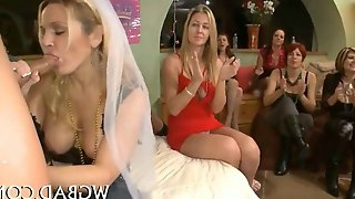 Hot and raunchy blowjobs as the bride lets loose