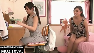 Japanese stepmom and daughter lesbians