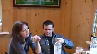 Russian Milf Drunk Home Fucking With Young Lover