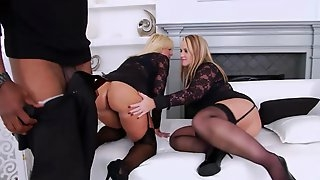 Interracial anal threesome with beautiful anal prolapse at the end and ass to mouth