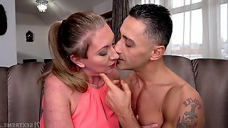 Handsome gigolo Mugur fucks older female sponsor Elizabeth Bee