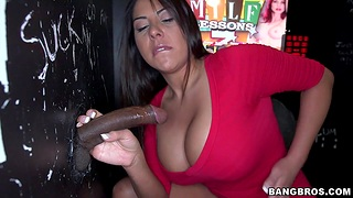 Naughty babe Candi Cox gets will not hear of cunt fucked by a horny stranger