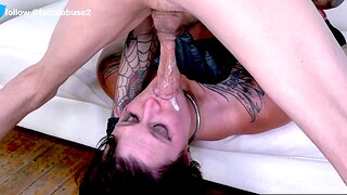 This dim MILF gets throat roughed enduring at Facial