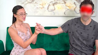 Sexy Asian chick Madi Laine takes money be beneficial to wild fucking in POV