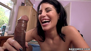 Awesome babe Violet loves nothing more than sucking a hard dick