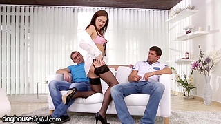 Professional escort girl Tina Kay gets double dipped check d cash in one's checks blowjob session