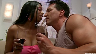 Busty black hottie Codi Bryant knows how close to please a naughty dude
