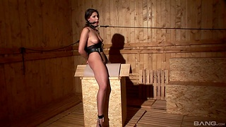 Hot model Zafira Klass moans while being tortured with toys