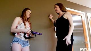 Bobbi Dylan finds stepmom's strapon and fucks seductive milf