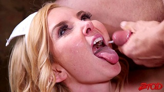 Cum in mouth ending after passionate screwing with nurse Aaliyah Love