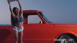 Suckin, fuckin plus truckin with Lana Violet