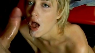 Blonde Slut Gets Mouth Fucked For Good And Rate The Feelin