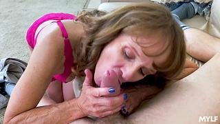 Scalding mature widely applicable Cyndi Sinclair enjoys getting fucked good