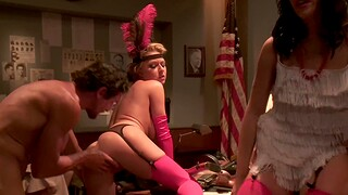 Group coitus party with cum eating babes Jamey James and Krissy Lynn