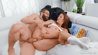 Cheating wife Alexis Fawx enjoys getting fucked by a big unearth dude