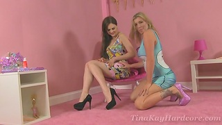 Frying Tina Kay gets will not hear of tight pussy magical by another chick