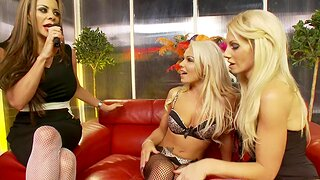 Lesbian threesome with hot Linsey Mckenzie and Sammy Jayne