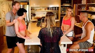 Swinger couple sex video featuring Mia Malkova, Olive Glass, Danny Rafts and Ryan Mclane