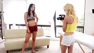Videotape of amazing threesome with models Aidra Fox and Skylar Green