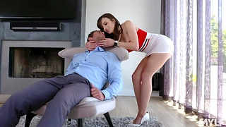 Bodacious wife Lexi Luna provides her husband with unforgettable sex fun