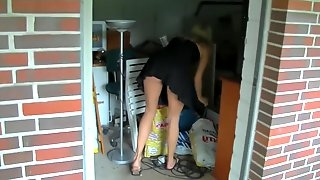 Neighbours daughter caught and punished Anal