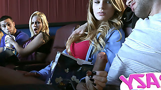 Sydneycole in Lights camera action - CrazyCollegeGFs
