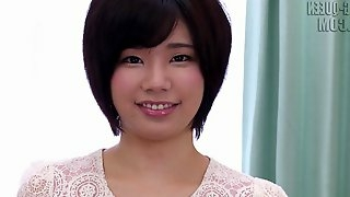 Shaved Japanese cunt in close up