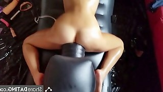 Multiple orgasms on fucking machine bitch masturbation